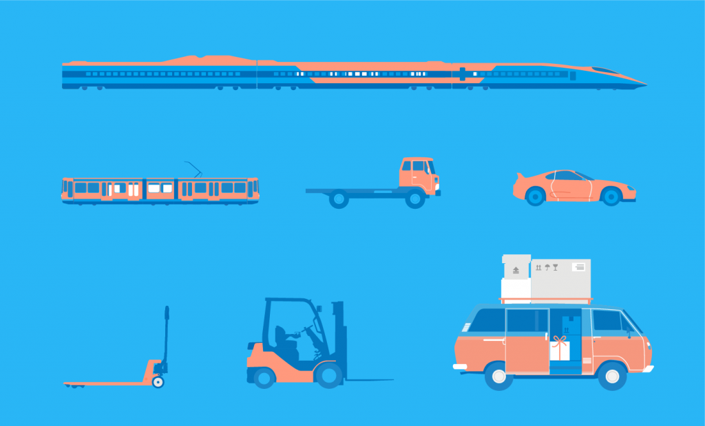 Toyota Logistic Design Competition 2018 image of different delivery vehicles