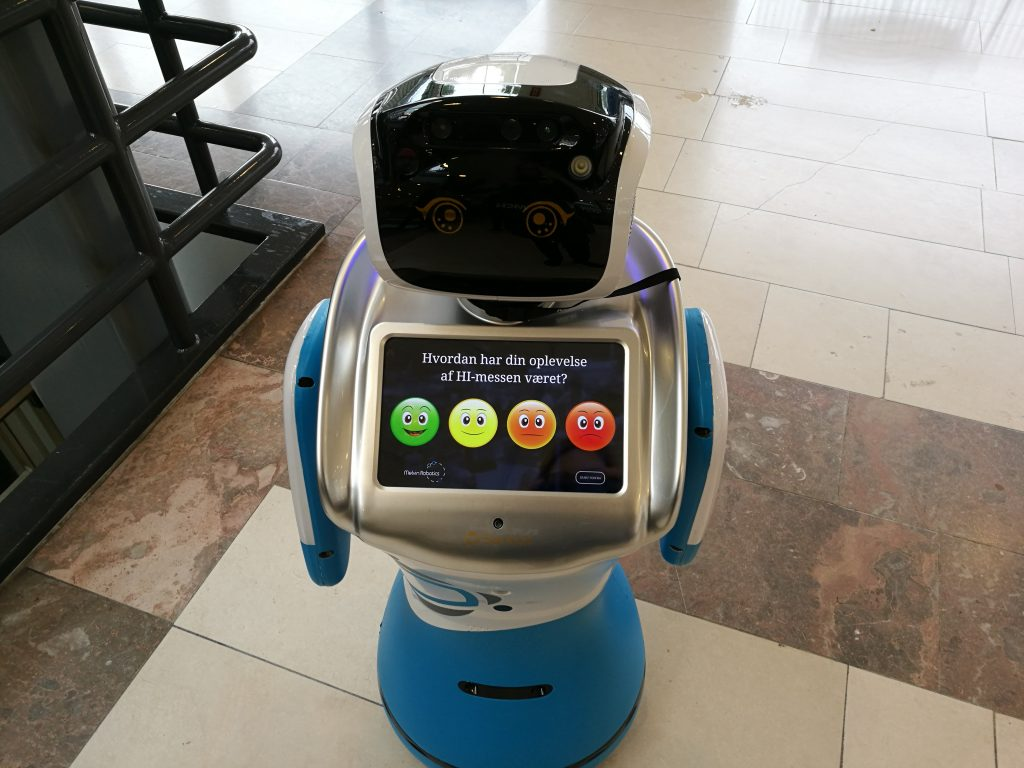 Interactive feedback machine at Hi Tech & Industry fair