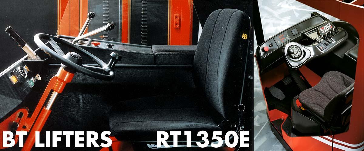 Interior design of RT1350E (1982) & Reflex (1995)