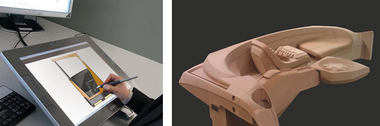 Designer's sketch & early design mock-up