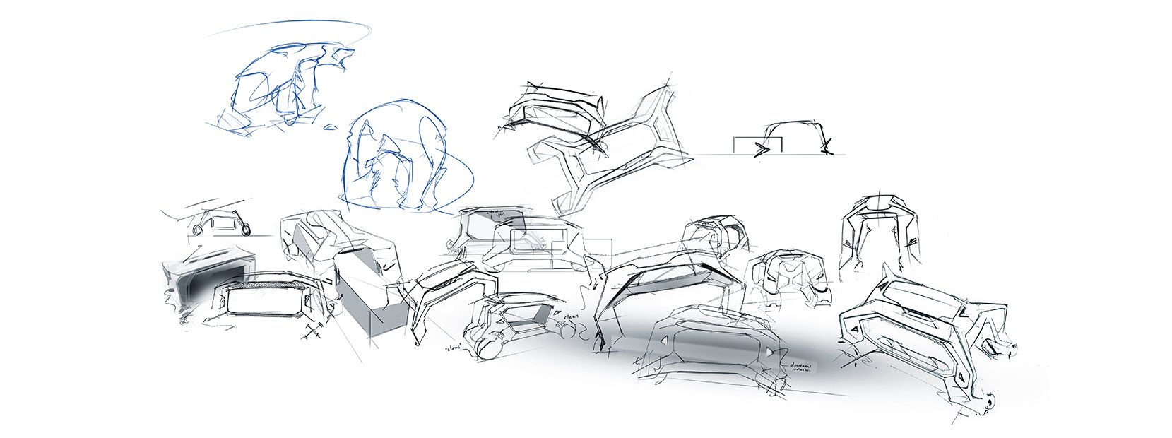 T.A.D., Toyota Automated Delivery Concept Design Sketches