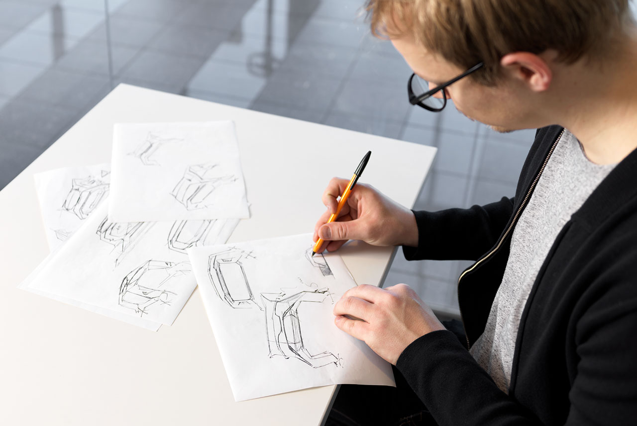 Viljami Räisänen, designer of T.A.D, Toyota Automated Delivery Concept