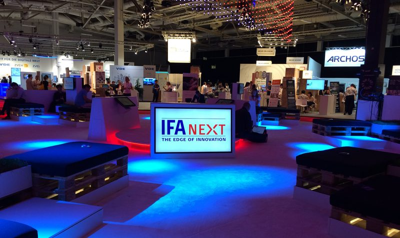 Innovation hub at IFA NEXT area at the IFA 2018 fair